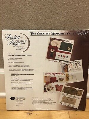 Creative Memories 12x12 White Pocket Pages w Write in Space RCM-12P NEW 5 Sheets