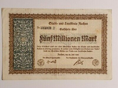 Germany - 1923 - Funf Millionen Mart Note