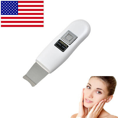 Pro Facial Ultrasonic Portable Ultrasound Ion Skin Scrubber Care Peeling Device