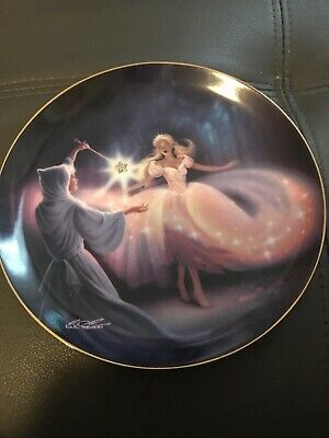 Franklin Mint Cinderella Fairy Godmothers Magic Limited Edition Plate