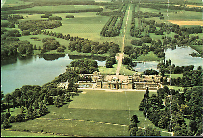 Blenheim Palace from the air Oxfordshire UK Postcard
