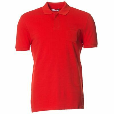 New Versace Collection Pocket Medusa Logo Polo Red By OZSALE