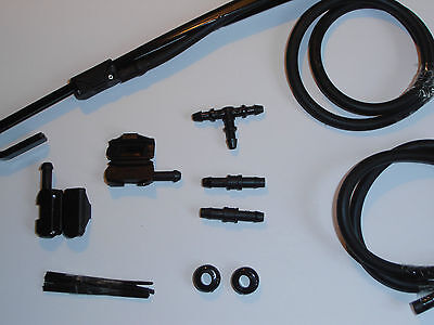 Windscreen Washer Jets Conversion Kit VOLVO from bonnet/scuttle to Wiper Arms)