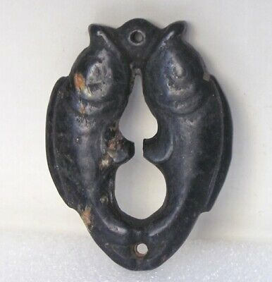 "3.0""HONGSHAN Culture Hand-carved DOUBLE FISH carving Meteorite Pendant"