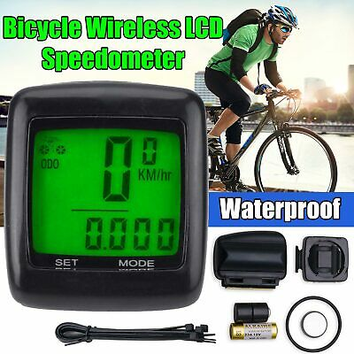 New Wireless Bicycle Speedometer Cycle Bike Computer Odometer Meter Waterproof