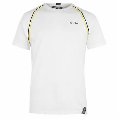Official Brand Lonsdale Logo Plain T-Shirt Mens Activewear Athleisure Top Tee Black X-Small