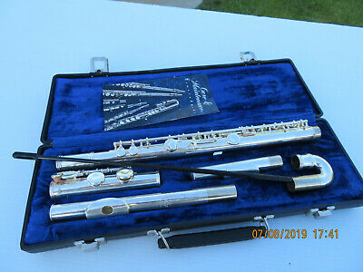 Gemeinhardt 2SP Silver Plated Flute w/ case great condition L@@K!!