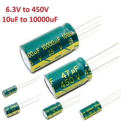 High Frequency LOW ESR Radial Electrolytic Capacitor / Various Value and Voltage