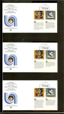 [A18_31] 1993 - VN/UNO Geneva FDC Mi. 233-234 (3x) - Human rights series 1993