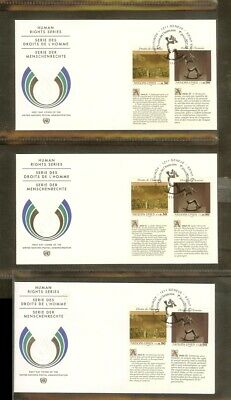 [A18_27] 1992 - VN/UNO Geneva FDC Mi. 223-224 (3x) - Human rights series 1992
