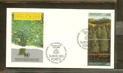 [A17_96] 1988 - VN/UNO Geneva FDC Mi. 165-166 - Survival of the forrests