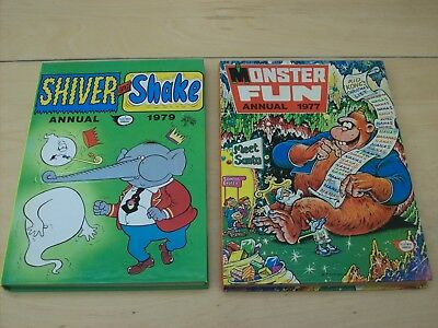 Two Vintage Annuals- Monster Fun 1977 and Shiver and Shake 1979