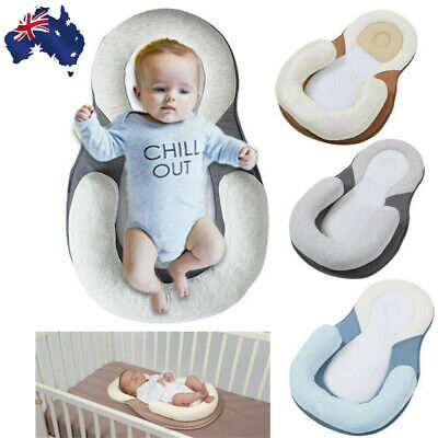 AU Soft Newborn Baby Pillow Infant Cushion Prevent Flat Head Sleep Nest Mattress