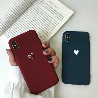 For iPhone XS Max XR 7 8 Plus Ultra Slim Matte Heart Protective Phone Case Cover
