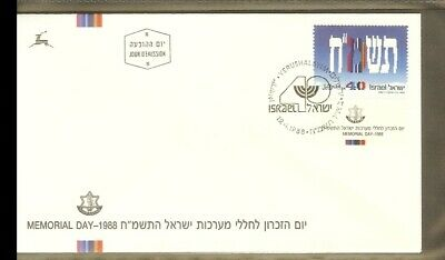 [D04_122] 1988 - Israel FDC Mi. 1086 - Memorial day - 40 years of Indepence