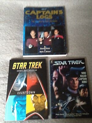 Star Trek Books Captains Logs Who Killed Captain Kirk Countdown Collectable Book