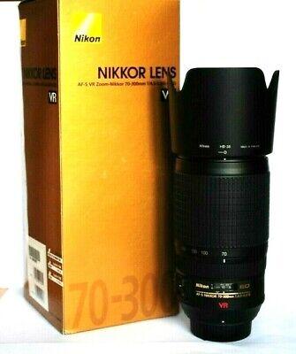 Nikon AF-S VR Zoom Nikkor 70-300mm f4.5-5.6G IF ED Lens. Absolutely MINT Cond.