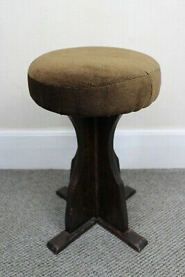 Vintage Wooden Brown Stool / Victorian Style Seating / Upcycling / Sturdy