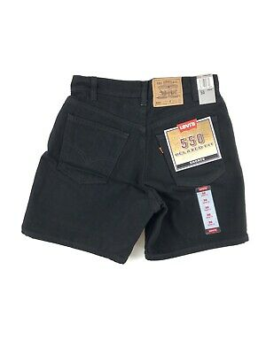 Vintage 90's Levis 550 Relaxed Fit Shorts Men's 30 Black Denim NWT Made USA