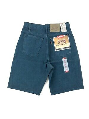 Vintage 90's Levis 550 Relaxed Fit Shorts Men's 30 Blue/Green Denim Made USA NWT