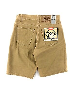 Vintage 90's Levis 550 Relaxed Fit Shorts Men's 29 Khaki Denim NWT Made USA