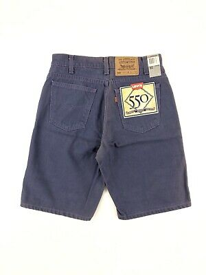 Vintage 90's Levis 550 Relaxed Fit Shorts Men's 31 Purple Denim NWT Made USA
