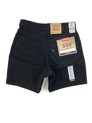 Vintage 90's Levis 550 Relaxed Fit Shorts Men's 31 Black Denim NWT Made USA