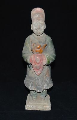 China Old Tomb Burial Ming Dynast Thr-color Clay Figurine Statue Glazed Pottery