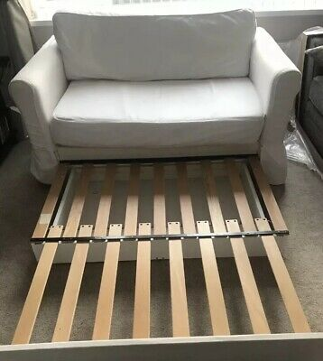Terrific Ikea Hagalund 2 Seater Double White Sofa Bed With Storage Caraccident5 Cool Chair Designs And Ideas Caraccident5Info