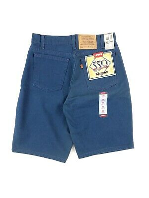 Vintage 90's Levis 550 Relaxed Fit Shorts Men's 30 Navy Blue Denim NWT Made USA