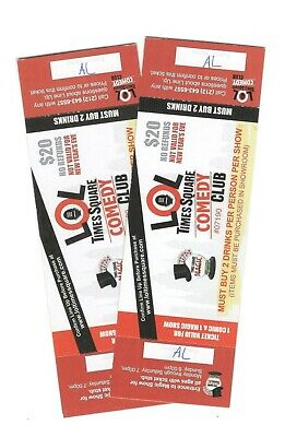 LOL Times Square Comedy Club Tickets **TWO TICKETS** Never Expire