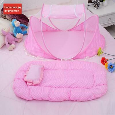 Babycare 3pcs Portable Baby Bed Crib Folding Baby Mosquito Net Summer Infants In