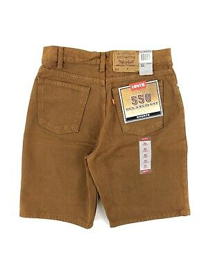 Vintage 90's Levis 550 Relaxed Fit Shorts Men's 31 Brown Denim NWT Made USA