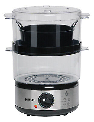 Englewood Marketing Group ST-25F Food Steamer With Rice Bowl, Double Decker, BPA