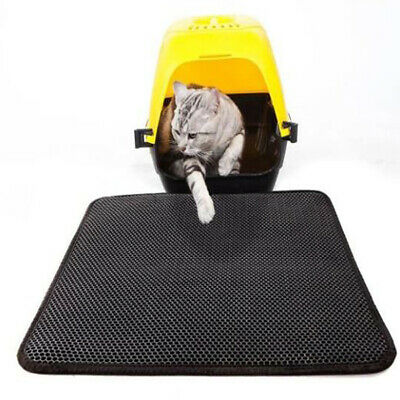Double Layer Cat Litter Mat Trapping Box Paw Cleaning Mat Scatter Control Mating