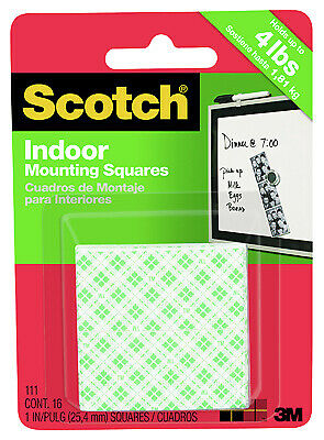 3M 111 16-Pack Heavy-Duty Mounting Squares