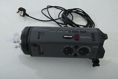 BOWENS esprit 2 1000W Flash Head with power cable and flash sync cable