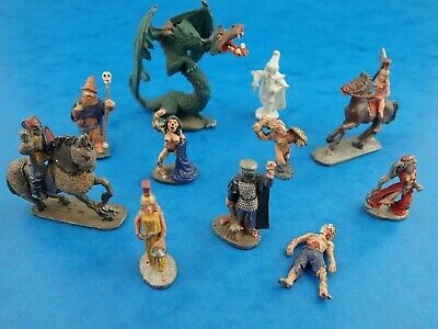 Lot of Painted Vintage RAL PARTHA 1970's Gaming Miniatures Dragon Horses Riders