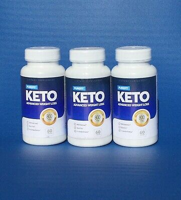 800MG PUREFIT KETO Diet Advanced Weight Loss 60 Caps (3 Qty) bottles (180 Caps)
