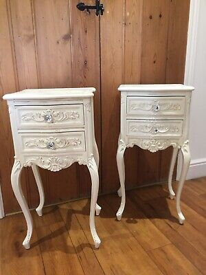 French Bedside Tables Pair Rococo Louis Style