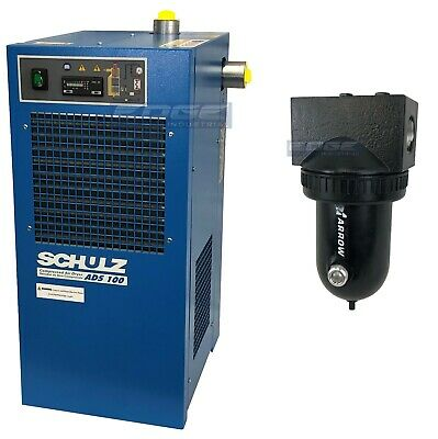 Schulz 100 Cfm Refrigerated Compressed Air Dryer, 20Hp & 25 Hp Compressors, 115V