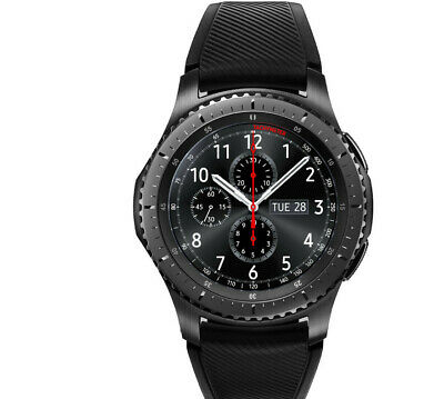 SAMSUNG Gear S3 Frontier Smartwatch Silikon 22 mm Space Gray NEU OVP