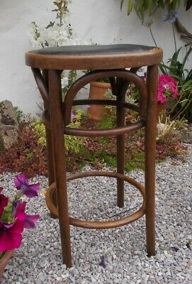 stool, vintage french bentwood stool, office stool, style of Thonet