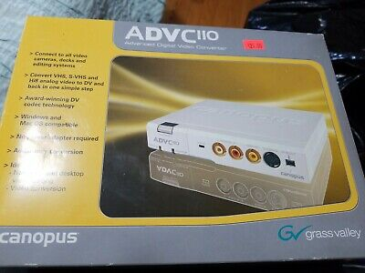 Canopus ADVC-110 IEEE-1394 Advanced Digital Video DV VHS Hi8 Media Converter