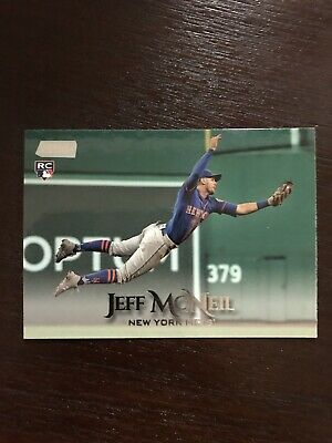 2019 Topps Stadium Club Jeff McNeil Rookie Mets RC Black Parallel SP