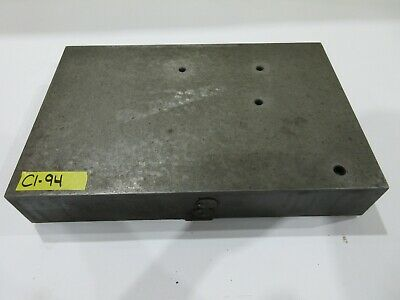 "11-3/4"" x 17-3/4"" Cast Iron Fixture Layout Plate for Metalworking"