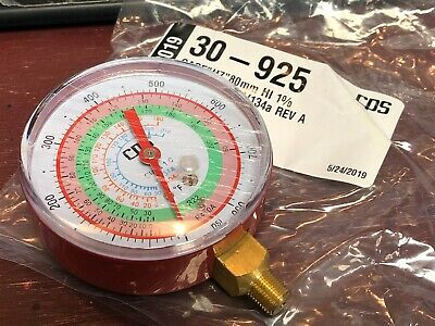 CPS, Refrigeration Gauge, R410a, R22, R404A, R134a, Red High Side, 0 to 800 PSI
