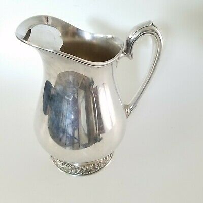 Oneida Silver Plated Henley Water Pitcher With Ice Lip Silverplate Hollowware