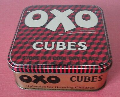 Vintage OXO CUBES Storage Tin •●