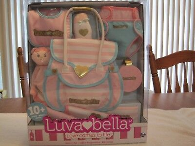 Luvabella Diaper Bag Nursery Set 10 Pieces Toys R Us--New In Box